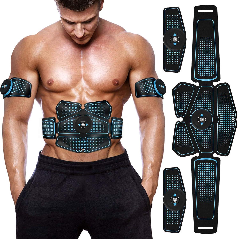 すきショルダー変化EMS 腹筋ベルト ウエストベルト Vkaiy 筋トレ 腹筋トレーニング 腹筋パッド 腕筋 多部位 6モード 10レベル強度 USB充電 男女兼用 日本語説明書付属