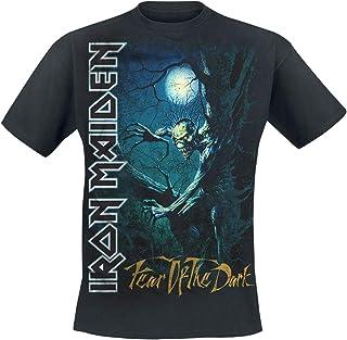 Iron Maiden Fear of The Dark Hombre Camiseta Negro, Regular