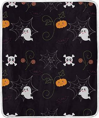 Halloween Trick or Treat No-Sew Fleece Throw Blanket Boo