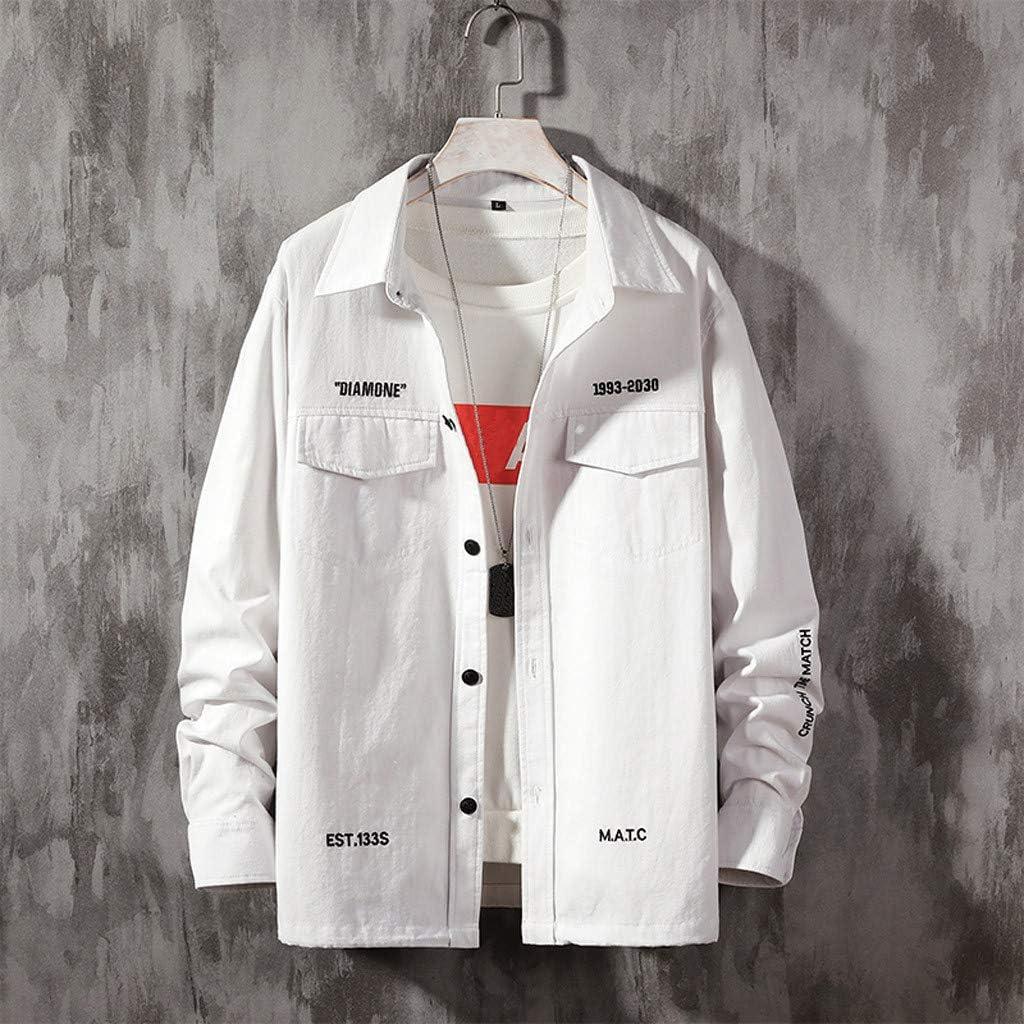 MODOQO Men's Jeans Long Sleeve Shirt Button Down Shirt, Regular Fit Casual Plaid Dress Shirt with Pocket
