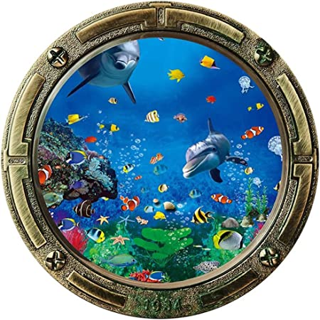 Details about  /3D Green Sea Fish ZHU2081 Door Wall Mural Photo Wall Sticker Decal Wall AMY show original title