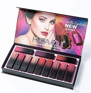 Set de maquillaje Lápiz labial Huda MOJI 12Pcs Lápices labiales Multicolores Taza antiadherente de larga duración Glamour ...