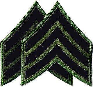 ミリタリーワッペン 刺繍パッチ 米陸軍 野戦用三等軍曹 NO-5442-od (2点セット)
