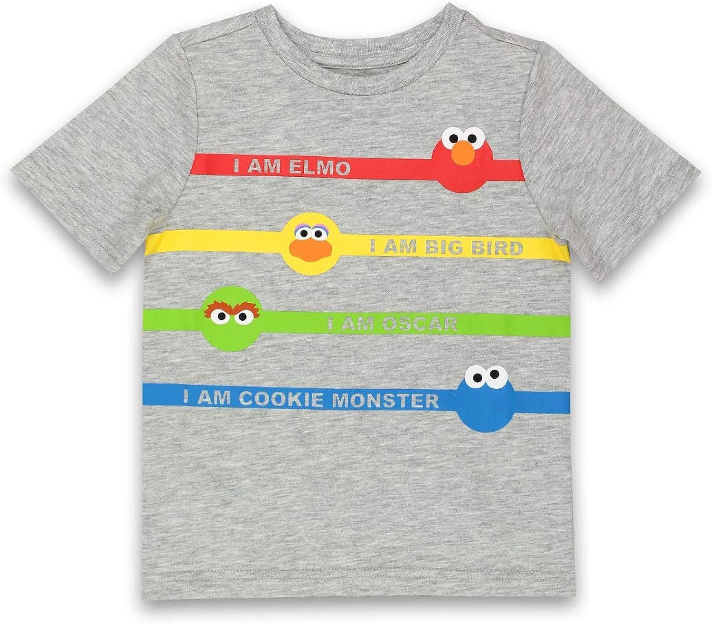 Isaac Mizrahi Loves Sesame Street Gang Elmo Toddler Baby Short Sleeve Tee (18 Months, Gray)
