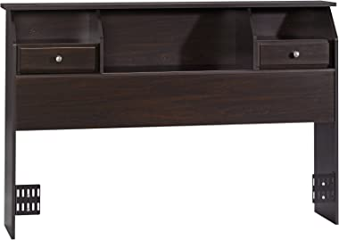 Sauder Shoal Creek Bookcase Headboard, Full/Queen, Jamocha Wood finish