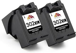 comprar comparacion Mony Remanufacturado Cartuchos de Tinta Reemplazo para HP 302 XL 302XL (2 Negro) Compatible con HP Envy 4520 4527 4524 Des...