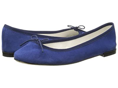 Repetto Cendrillon Suede Leather (Suede Navy) Women