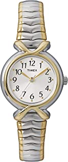 Timex Women's Quartz Watch , Analog Display and Stainless Steel Strap T21854