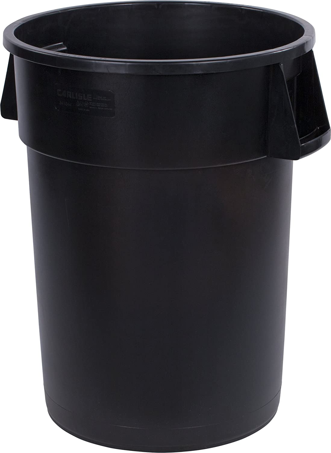 Max 73% OFF Carlisle 34104403 Round Waste Popular brand in the world gal 44 Black Container