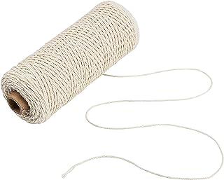 Jalan 1mm Makramee Baumwollschnur, Pflanzen Kleiderbügel Wandbehang Häkeln Böhmen Traumfänger DIY Craft Knitting - 200M weiche ungefärbt natürliche Farbe Schnur String