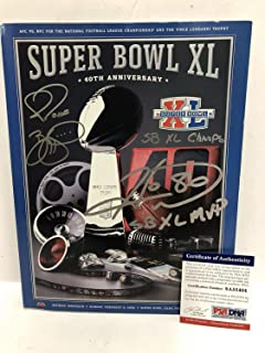 Super Bowl Xl Pittsburgh Steelers Hines Ward & Jerome Bettis Autographed Signed Memorabilia Program PSA/DNA