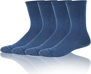 Mens Arch Support Military Boot Outdoor Cycling Crew Socks 1//4 Pairs Forcool Running Copper Socks