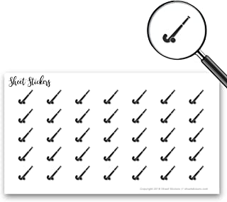 Field Hockey Ball Sports Play Hockey, Sticker Sheet 88 Bullet Stickers for Journal Planner Scrapbooks Bujo and Crafts, Item 800677