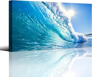 Canvas Prints Wall Art Blue Ocean Wave Surfing Sea Picture Paintings on Canvas Modern..