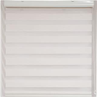 Upscale Designs 20201 Off-White - Zebra Sheer Striped Roller Blind / Shade - 24 In. (W) x78 In. (L),,