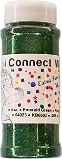 Emerald Green, Extra Fine Poly Glitter 1/128, 4oz Shaker Bottle