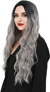 long silver wig