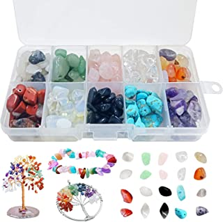 200g Perline di Pietre Preziose,Perline Kit creazione Gioielli Fai,Scatola Perline di Pietra,Naturale per bigiotteria,Mist...