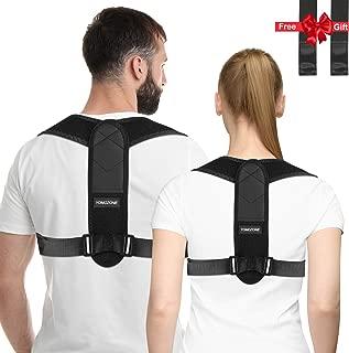 Posture Corrector Back Support Brace for Men and Women, Posture Brace Correction Shoulder Support, Adjustable Back Straightener and Providing Pain Relief from Neck, Back and Shoulder 2019 Upgraded