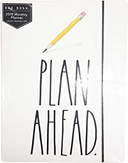 Rae Dunn - Plan Ahead - 2019 Monthly Planner Calendar (17 Months Aug 2018-Dec 2019) To Do/Notes