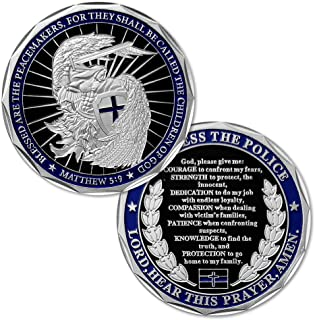 Saint Michael Law Enforcement Challenge Coin God Bless The Police Prayer