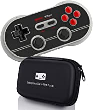 Geek Theory 8Bitdo N30 Pro 2 Controller Bundle (N Edition) - Includes Carrying Case - Updated 2018 Version - Android/Mac/PC/Switch/NES and SNES Classic