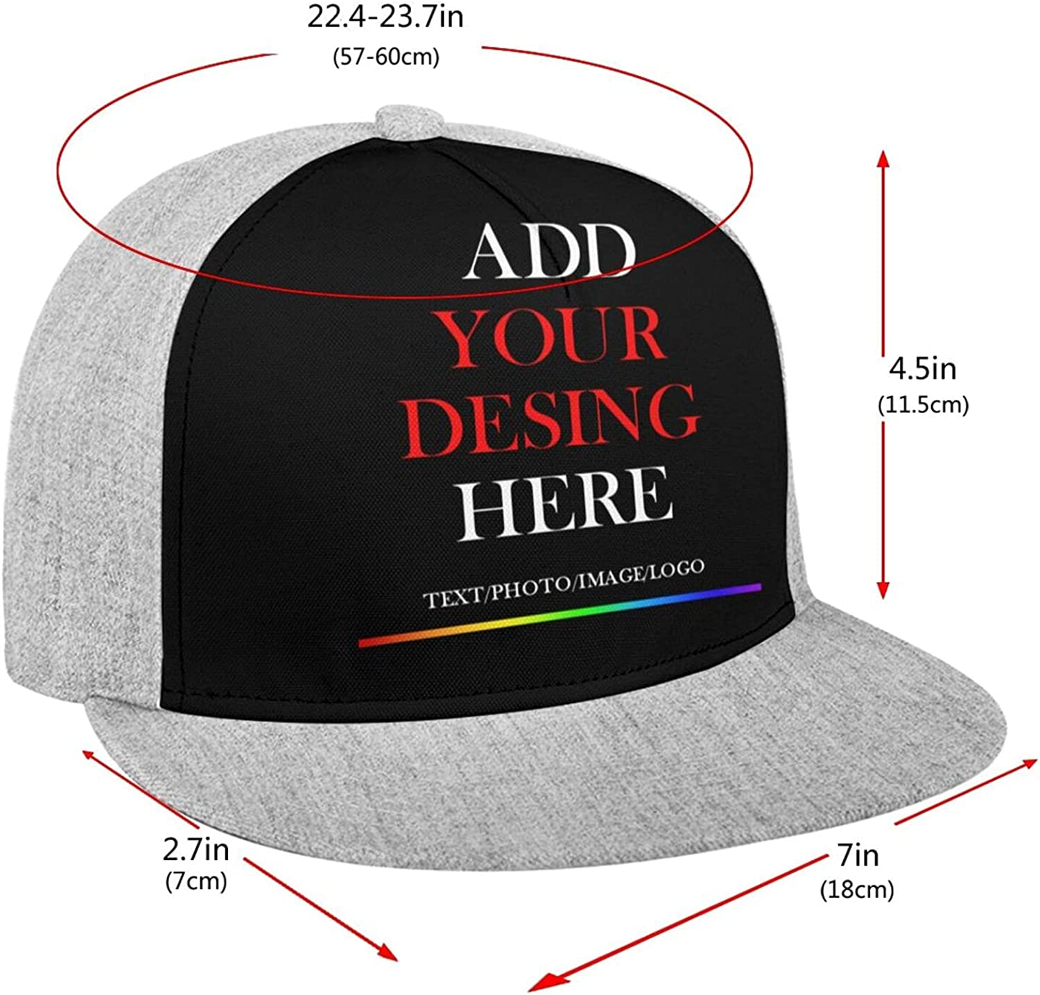 Customize Personalized Baseball Cap Custom Sport Hat with Photo Text Design Men's and Women's Adjustable Outdoor Hats