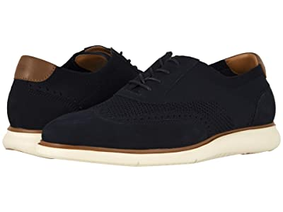 Florsheim Fuel Knit Wing Tip Oxford (Indigo Nubuck w/ White Sole) Men