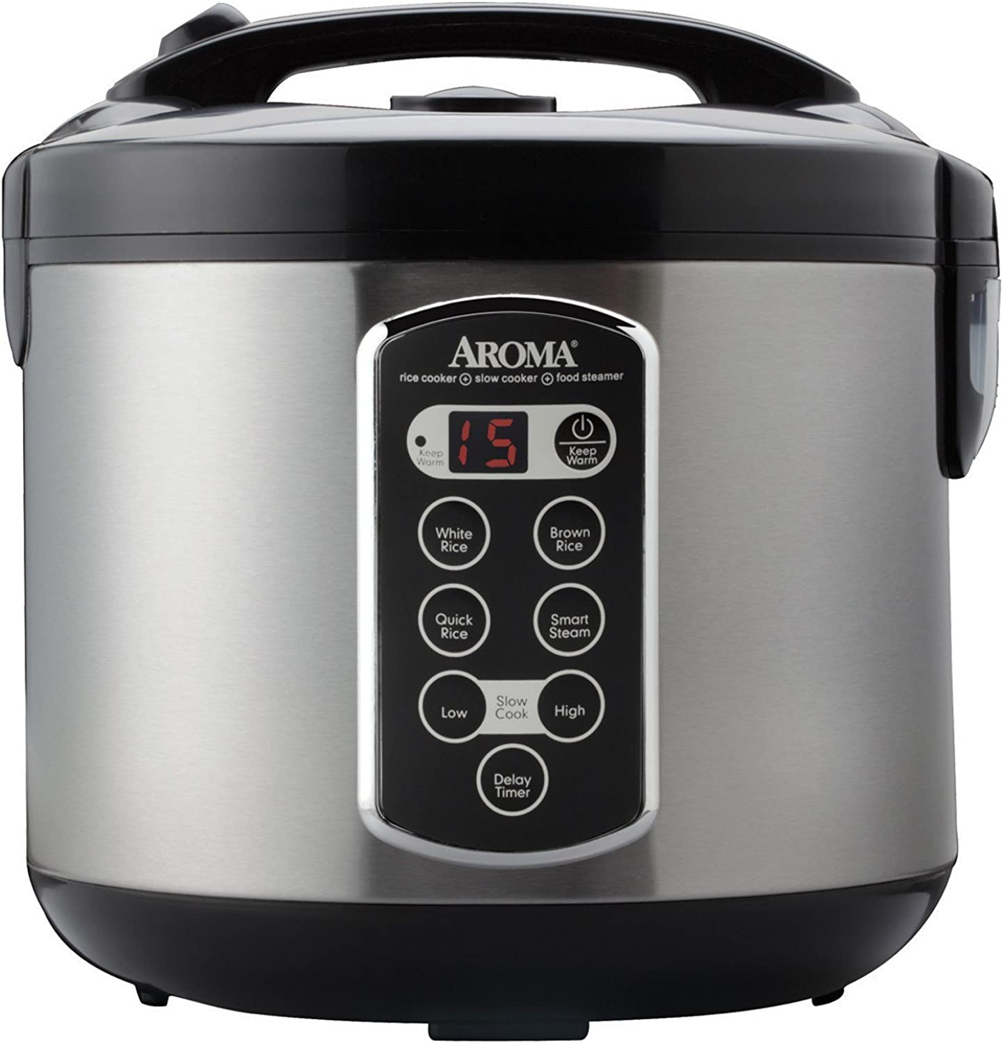 Aroma Housewares ARC-2000ASB Professional 10-Cup(un-cooked) 20-Cup (Cooked) Digital Rice Cooker