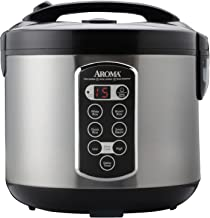 Aroma ARC-2000ASB 20-Cup Professional Rice Cooker, Food Steamer and Slow Cooker