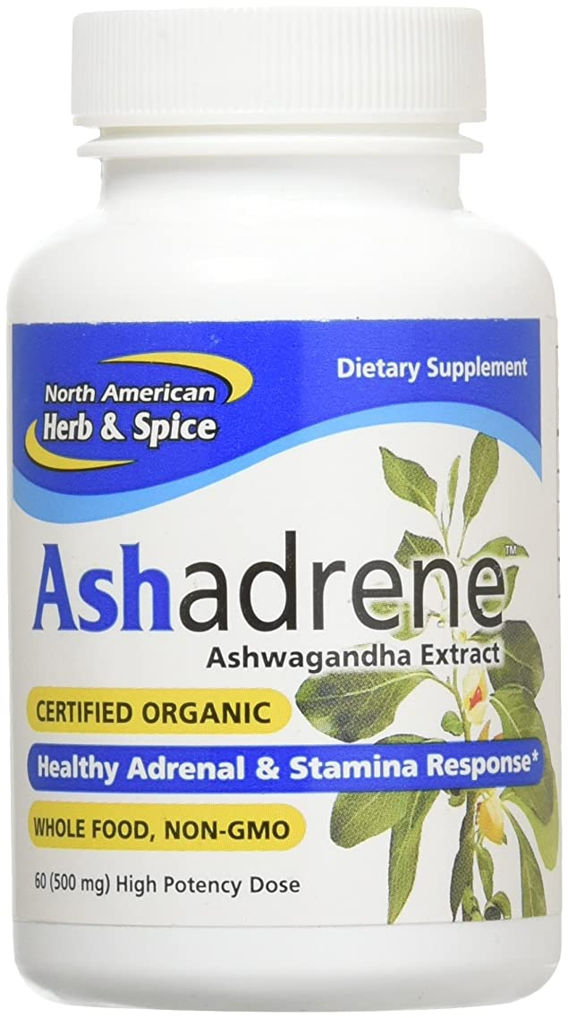 North American Herb & Spice Ashadrene Capsules, 60 Count