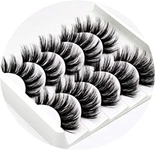 headstream_krystal 5Pairs 3D Mink Hair False Eyelashes Natural/Thick Long Eye Lashes Wispy Makeup Beauty Extension Tools,3D-47