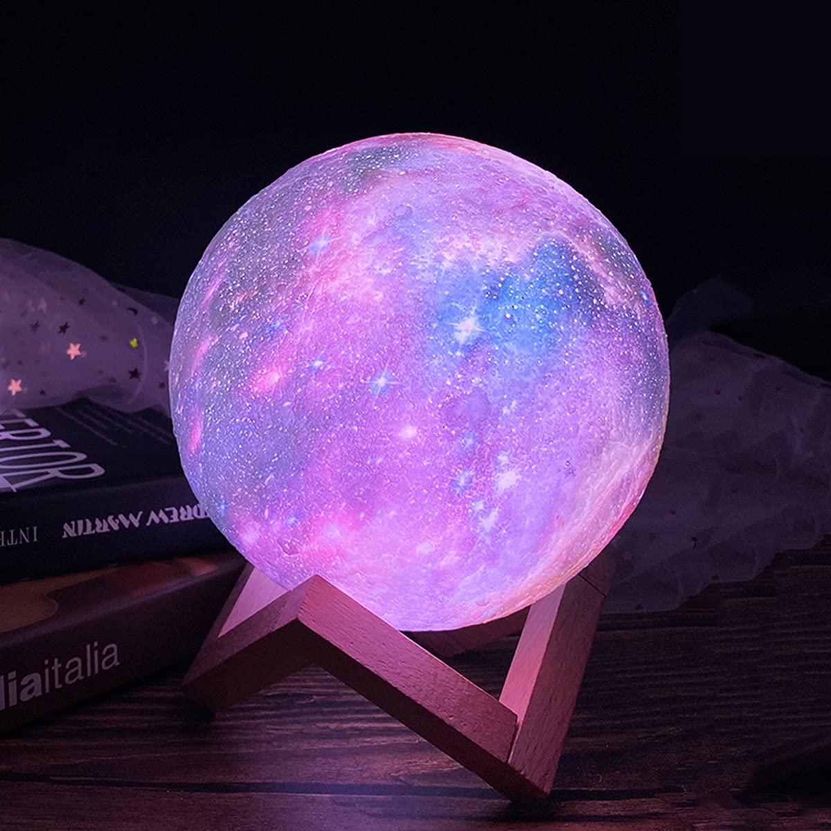 CPLA 3D Galaxy Moon Credence Lava unisex Sta Light Lamp