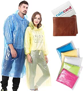 VITARA™ Men's and Women's Reusable Rain Poncho, Rain Card, Rain Coat (Multicolor, Free Size)