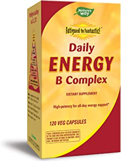 Nature's Way Fatigued to Fantastic! Daily Energy B Complex, 120 Capsules