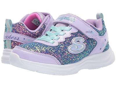SKECHERS KIDS Sport Lighted Glimmer Kicks 20267L (Little Kid/Big Kid) (Lavendar/Aqua) Girl