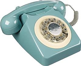 Rotary Design Retro Landline Phone for Home, French Blue (Renewed)