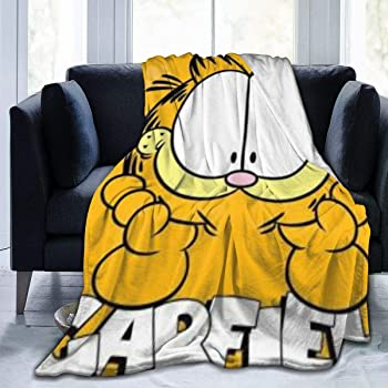 Amazon Com Qweqw The Garfield Show Blanket Super Soft Velvet Warm Fluffy Blankets Children S Blanket Easy To Maintain All Season Quality50 X40 Home Kitchen