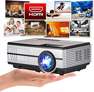 Mini Poortable Projector, 3000lumen LCD LED Projector Home Cinema HD 1080P Support Digital TV Proyector Built-in Speaker C...