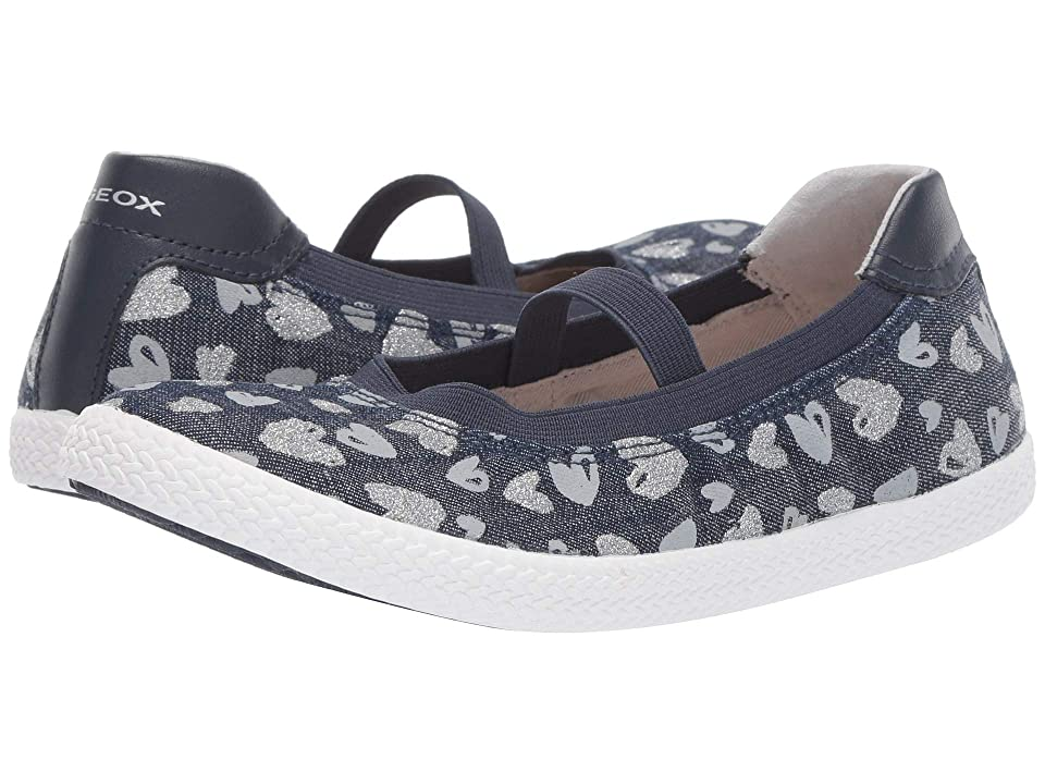 Geox Kids Kilwi Girl 47 (Little Kid/Big Kid) (Avio/Silver) Girl