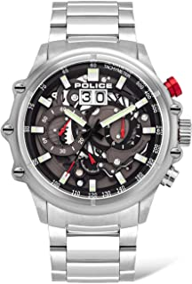 Police Watches Luang Mens Analog Quartz Watch with Stainless Steel Bracelet PL.16018JS-13M