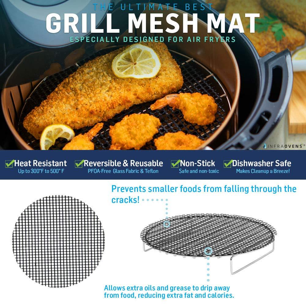 Cookbooks /& Cooking Guides Ultrean 8.5 Posame 4.2 QT Zokop 3.7 +More Ninja Foodi 8 QT Airfryer Baking /& Grilling Tools Set Air Fryer Rack Accessories Compatible with Costzon 4.8 QT