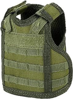 Lixada1 Beer Vest, Beverage Cooler Tactical Military Molle Mini Miniature Beer Bottle Can Cooler Holder Sleeve for 12oz or 16oz Cans or Bottles with Adjustable Shoulder Straps