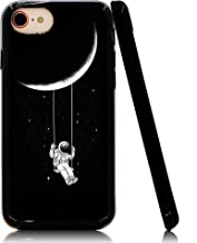 Lartin Astronaut Riding a Swing Tethered to The Moon Soft Flexible Jellybean Gel TPU Case for iPhone 8 / iPhone 7 / iPhone 6S / iPhone 6
