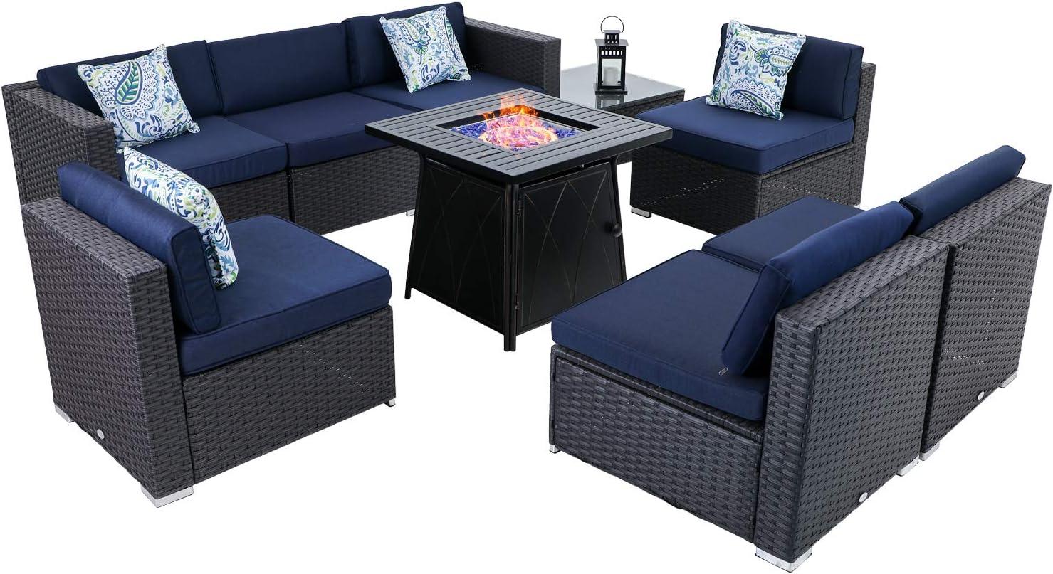 Beauty products MFSTUDIO Nashville-Davidson Mall Patio Conversation Set Wicker Outdoor Furniture Sec