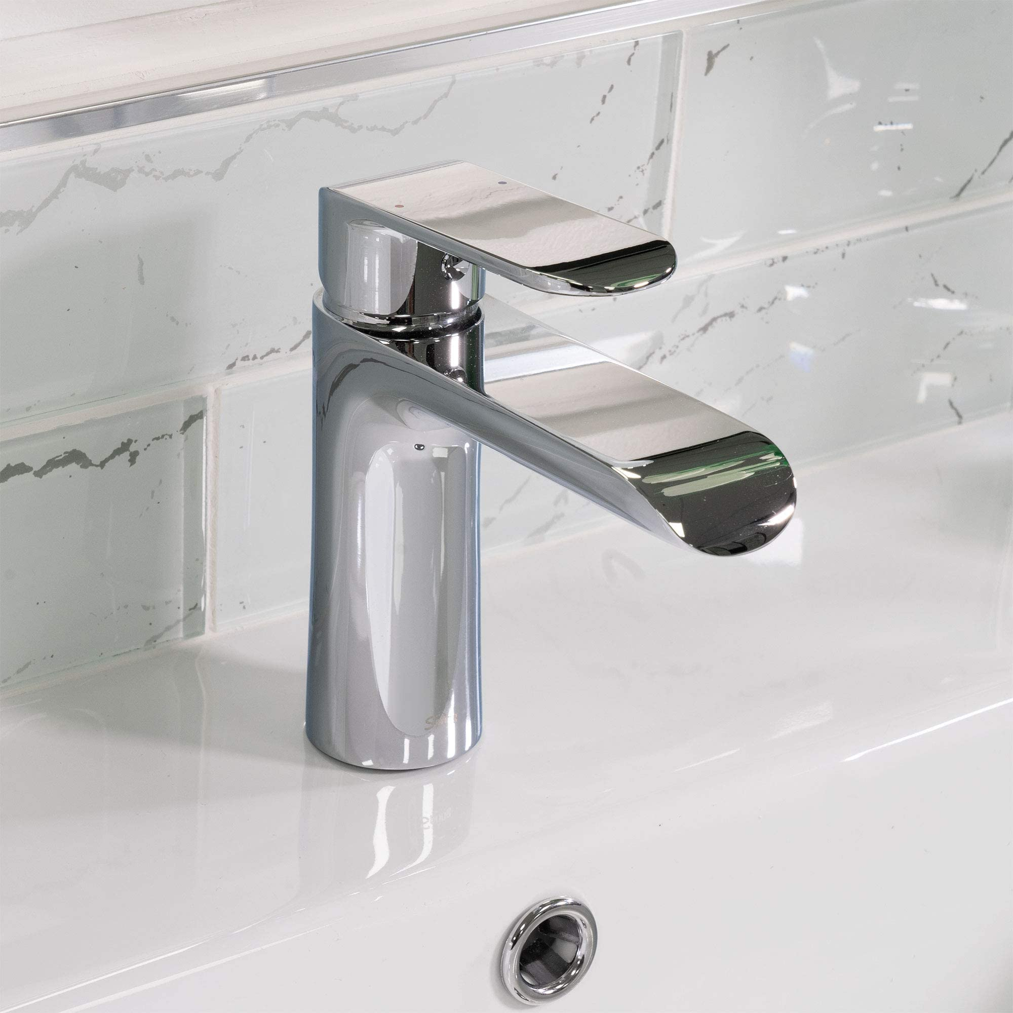 spring chrome bathroom sink faucet single handle brass material faucet 1 hole easy installation pop up drain assembly included wdg16431c by koozzo