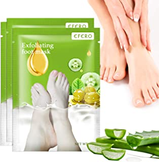 Foot Peel Mask 3 Pairs, Exfoliating Foot Mask Peeling Away Calluses and Dead Skin, Foot Booties Repair Rough Dry Cracked H...