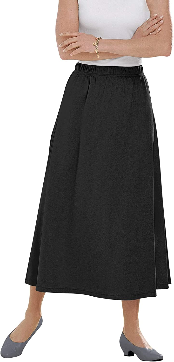 Woman Within Women's Plus Size Petite 7-Day Knit A-Line Skirt