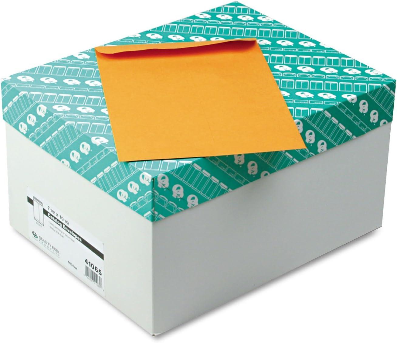Mail order Quality Park 41065 Catalog Manufacturer direct delivery Envelope 7 x 2 Brown Kraft 1 10