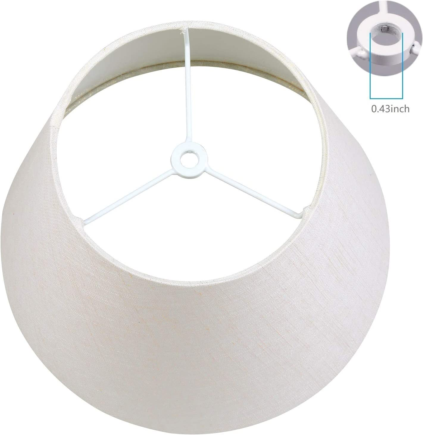 10.3x6.5x7.5 inch Pure White fabric Lamp Shade IMISI Desk Lamp Table Lamp Shade Linen Fabric Reading Lamp Shades Dining Standing